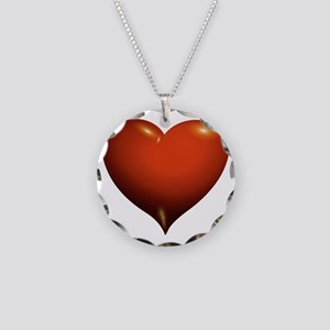 Heart of Love Necklace Circle Charm