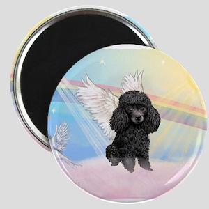 Angel /Poodle (blk Toy/Min) Magnets