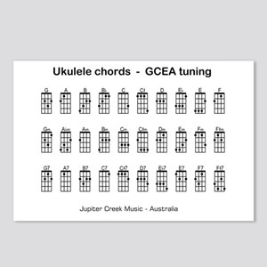Ukulele chords Postcards (Package of 8)