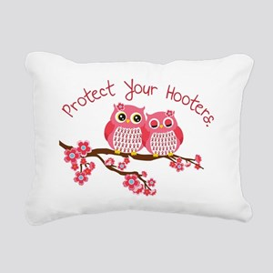 Protect Your Hooters Rectangular Canvas Pillow