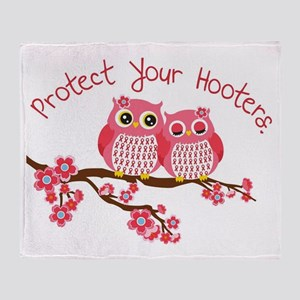 Protect Your Hooters Throw Blanket