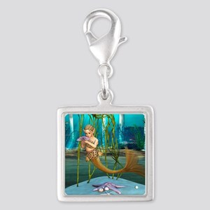 Little Mermaid holding Anemone Flower Charms