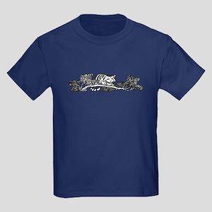 Cheshire Cat Grin Kids Dark T-Shirt