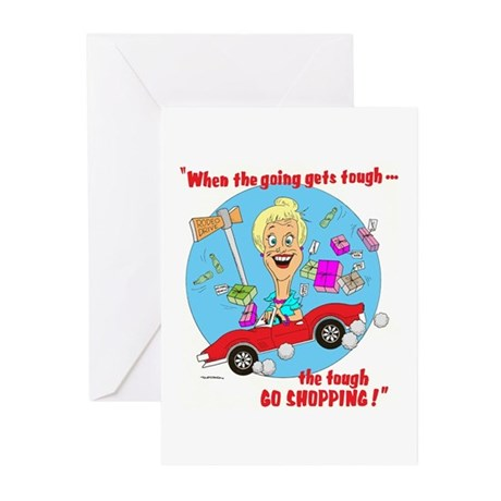 TOUGH GO SHOPPING Greeting Cards (Pk of 10)