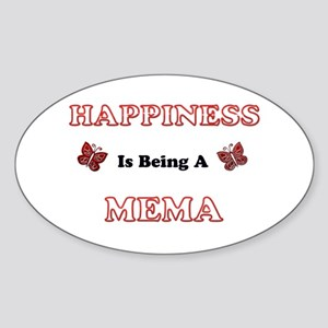 Happiness Is Being A Mema Sticker