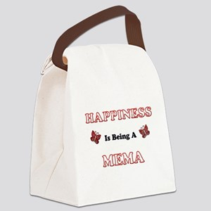 Happiness Is Being A Mema Canvas Lunch Bag