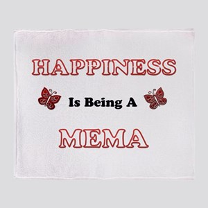 Happiness Is Being A Mema Throw Blanket