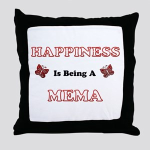 Happiness Is Being A Mema Throw Pillow