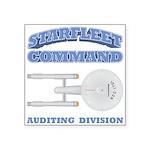 Starfleet Auditing Division Square Sticker 3