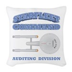 Starfleet Auditing Division Woven Throw Pillow