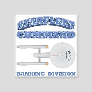 "Starfleet Banking Division Square Sticker 3"" x 3"""