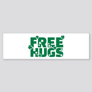 Free hugs shamrock Sticker (Bumper)