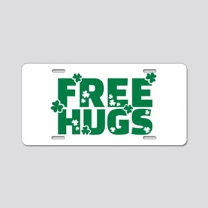 Free hugs shamrock Aluminum License Plate