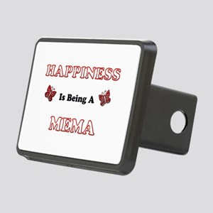 Happiness Is Being A Mema Rectangular Hitch Cover