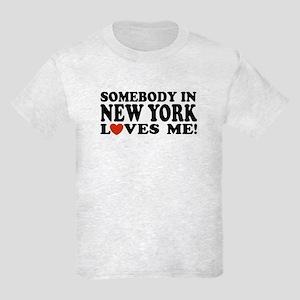 Somebody in New York Loves Me Kids Light T-Shirt
