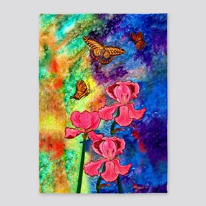 Swallowtail Attraction 5'X7'area Rug