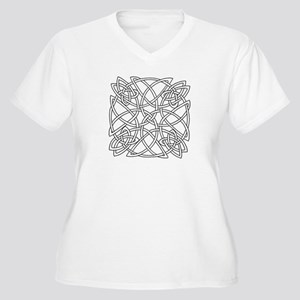 Celtic Knot Plus Size V-Neck T-Shirt