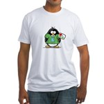 Love Earth Penguin Fitted T-Shirt