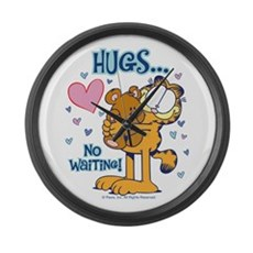 Hugs...No Waiting! Large Wall Clock