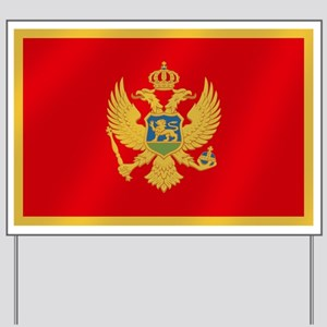 Flag of Montenegro Yard Sign