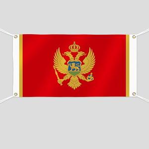 Flag of Montenegro Banner