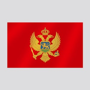 Flag of Montenegro 35x21 Wall Decal