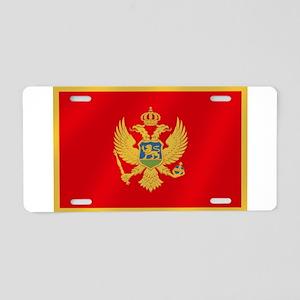 Flag of Montenegro Aluminum License Plate