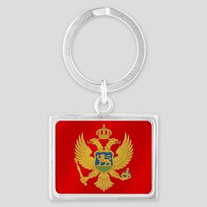 Flag of Montenegro Landscape Keychain