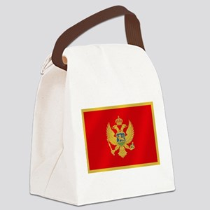 Flag of Montenegro Canvas Lunch Bag