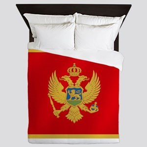 Flag of Montenegro Queen Duvet