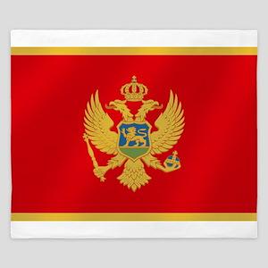 Flag of Montenegro King Duvet