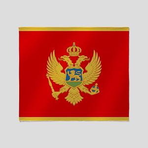 Flag of Montenegro Throw Blanket