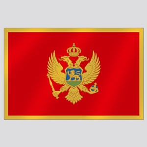 Flag of Montenegro Large Poster