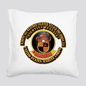 USMC - VMFA(AW) - 224 With Text Square Canvas Pill