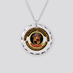 USMC - VMFA(AW) - 224 With Text Necklace Circle Ch