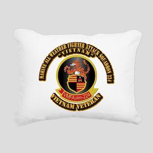 USMC - VMFA(AW) - 224 VN Rectangular Canvas Pillow