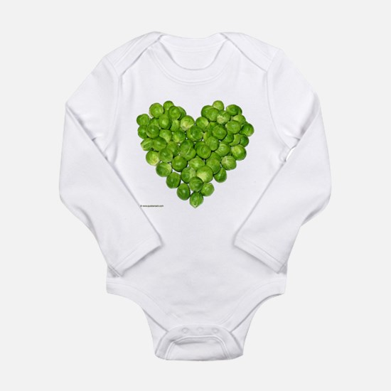 Brussel Sprouts Heart Body Suit