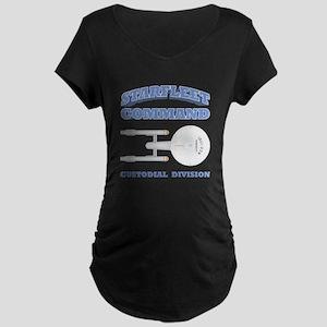 Starfleet Custodial Division Maternity Dark T-Shir