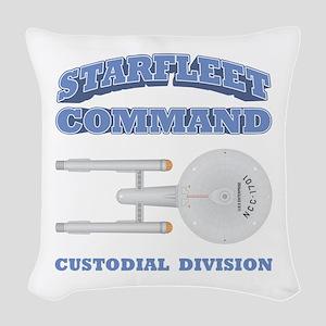 Starfleet Custodial Division Woven Throw Pillow