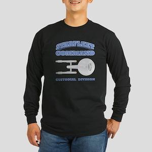 Starfleet Custodial Division Long Sleeve Dark T-Sh