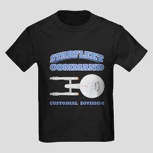 Starfleet Custodial Division Kids Dark T-Shirt