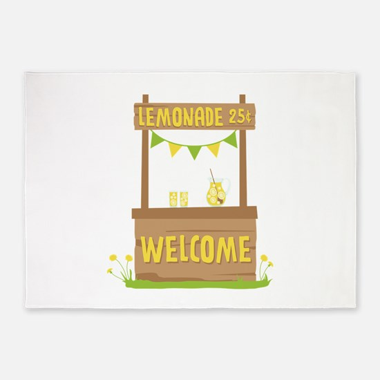 Lemonade Welcome 5'x7'Area Rug