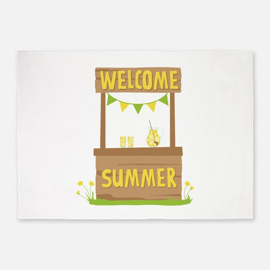 Welcome Summer 5'x7'Area Rug