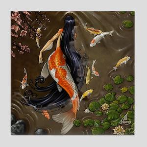 Koi Mermaid Tile Coaster