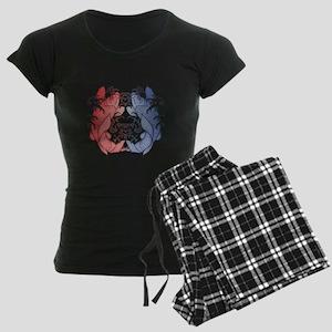 Koi Flip Flops Women's Dark Pajamas