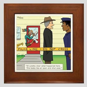 """""""Open and Shut Case"""" Framed Tile"""
