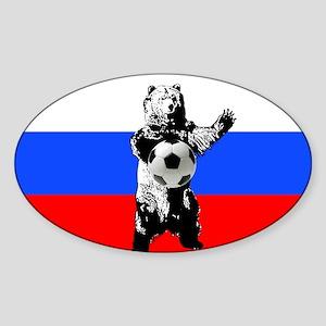 Russian Football Flag Sticker (Oval)