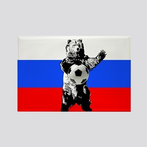 Russian Football Flag Rectangle Magnet