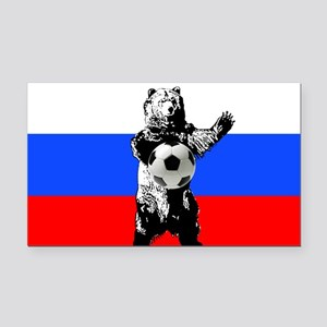 Russian Football Flag Rectangle Car Magnet