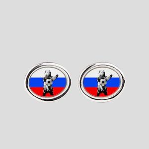 Russian Football Flag Cufflinks